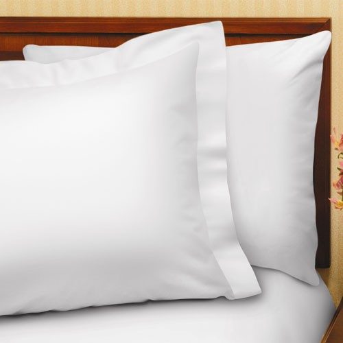 "1888 Mills Suite Touch T-200 Pillow Shams w/ 2"" Flange King 21x37 60% Cotton 40% Polyester White 24 Per Case Price Per Each"