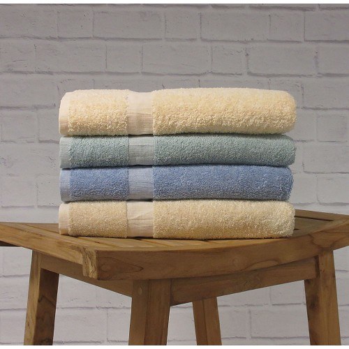 1888 Mills Fibertone Cam Border Terry Bath Towels 24x50 86% Cotton 14% Polyester 10.5Lb/Dz 5 Dz Per Case Price Per Dz