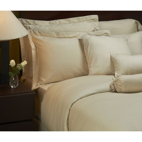 1888 Mills Magnificence T-310 Tone on Tone Bed Skirt Full XL 54x80 60% Pima Cotton 40% Polyester Linen 6 Per Case Price Per Each