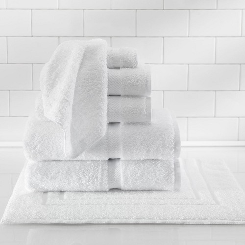 1888 Mills Suite Touch Bath Towels XL 27x54 100% Ring Spun Cotton White 17Lb/Dz 3 Dz Per Case Price Per Dz