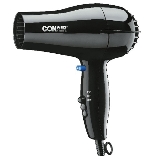 Conair® 047BW 1600 Watt Compact Hair Dryer w/ Cool Shot Black 4 Per Case Price Per Each