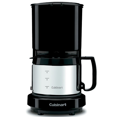 Cuisinart® WCM08B 4-Cup Coffee Maker w/ Stainless Steel Carafe Black 4 Per Case Price Per Each
