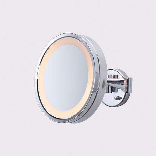 "Jerdon HL7CF 9.75"" Lighted Wall Mount Mirror 3X Magnification Chrome 4 Per Case Price Per Each"