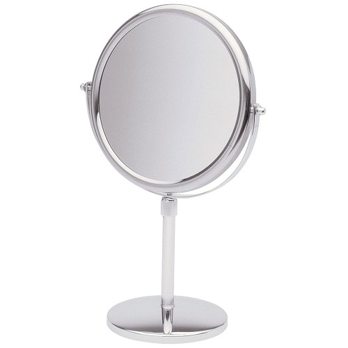 "Jerdon JP4045C 9"" Non-Lighted Tabletop Mirror 1X-5X Magnification Chrome 6 Per Case Price Per Each"