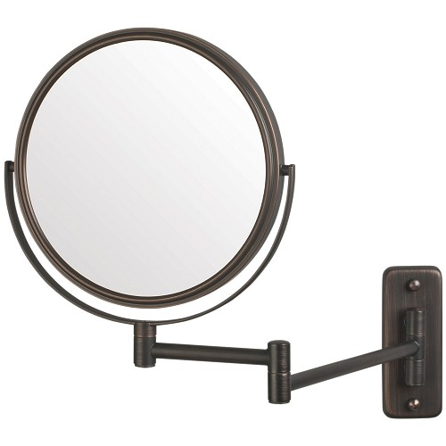 "Jerdon JP7506BZ 8"" Non-Lighted Wall Mount Mirror 1X-5X Magnification Bronze 6 Per Case Price Per Each"