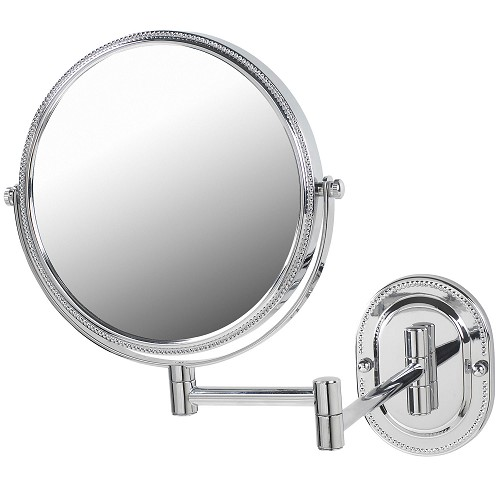 "Jerdon JP7507CB 8"" Non-Lighted Wall Mount Mirror 1X-7X Magnification Chrome/Beaded 6 Per Case Price Per Each"