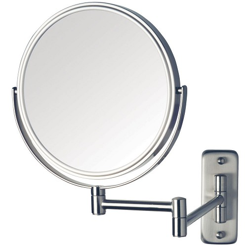 "Jerdon JP7808N 8"" Non-Lighted Wall Mount Mirror 1X-8X Magnification Nickel 6 Per Case Price Per Each"
