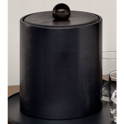 Lancaster Colony Glamour Deluxe 2 Qt. Leatherette Ice Bucket w/ Matching Knob 12 Per Case Price Per Each