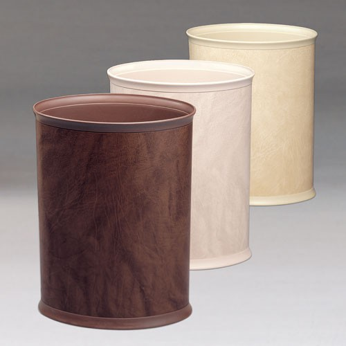 Lancaster Colony Design Line Leatherette 13 Qt. Ignition Resistant Oval Wastebasket 8 Per Case Price Per Each