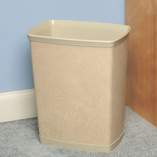 Lancaster Colony Design Line Leatherette 7 Qt. Rectangular Wastebasket 12 Per Case Price Per Each