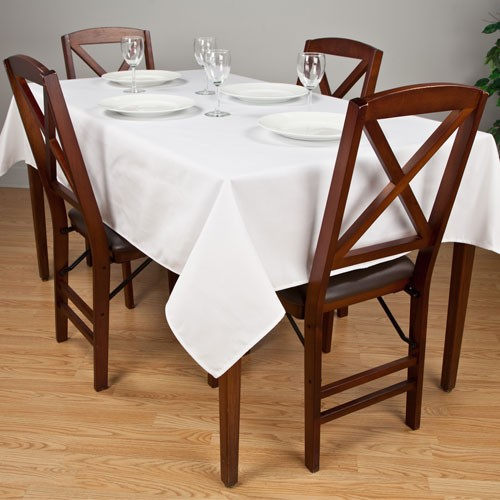Riegel Permalux Cotton Blend Rectangular Tablecloth 54x110 White 1 Dz Per Case Price Per Dz
