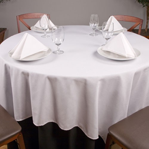 "Riegel Permalux Cotton Blend 120"" Round Tablecloth 1 Dz Per Case Price Per Dz"
