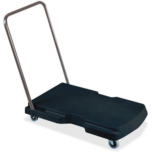 "Rubbermaid Commercial 440000 Triple® Trolley Utility Duty w/ Straight Handle & 3"" Casters Black"