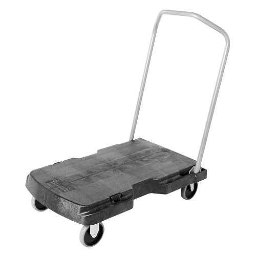 "Rubbermaid Commercial 4401BLA Triple® Trolley Standard Duty w/ User-Friendly Handle & 5"" Casters Black"