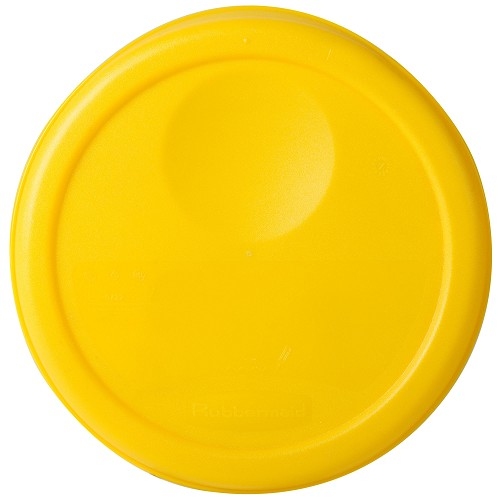 Rubbermaid Commercial 5722YEL 2 Qt. Round Storage Containers Lids For 5720 5720-24 5721 5721-24 8-3/4x7/8 Yellow