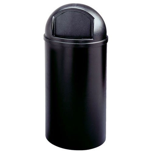 Rubbermaid Commercial 817088BK 25 Gallon Marshal® Classic Container Black