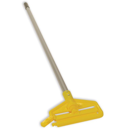 "Rubbermaid Commercial H136 60"" Invader® Side Gate Wet Mop Handle w/ Large Yellow Plastic Head & Vinyl-Covered Aluminum Handle"