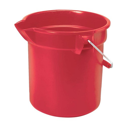 Rubbermaid Commercial 2614RED 14 Qt. Brute® Round Plastic Bucket Red