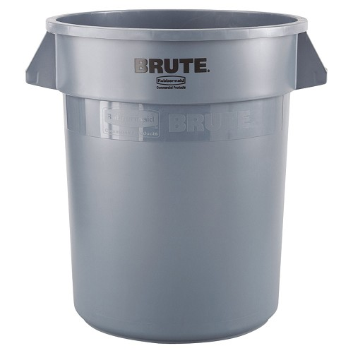 Rubbermaid Commercial 2632GRA 32 Gallon Brute® Round Containers w/out Lid Grey
