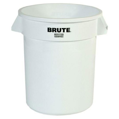 Rubbermaid Commercial 2632WHI 32 Gallon Brute® Round Containers w/out Lid White