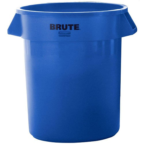 Rubbermaid Commercial 2632BLU 32 Gallon Brute® Round Containers w/out Lid Blue