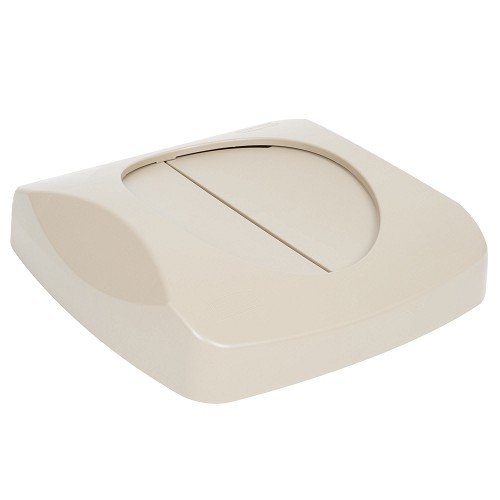 Rubbermaid Commercial 268988BG Untouchable® Recycling Swing Lid For 3569-73 3569-88 Containers Beige