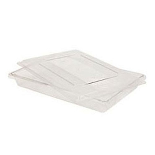 "Rubbermaid Commercial 3306CLE Food Boxes 5 Gallon 3 1/2"" High Clear 6 Per Case Price Per Each"