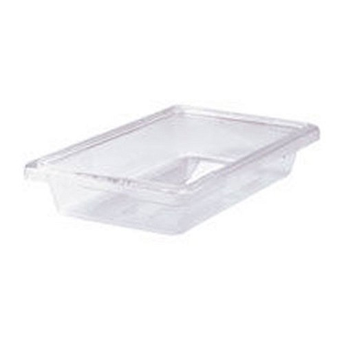 "Rubbermaid Commercial 3307CLE Food Boxes 2 Gallon 3 1/2"" High Clear 6 Per Case Price Per Each"