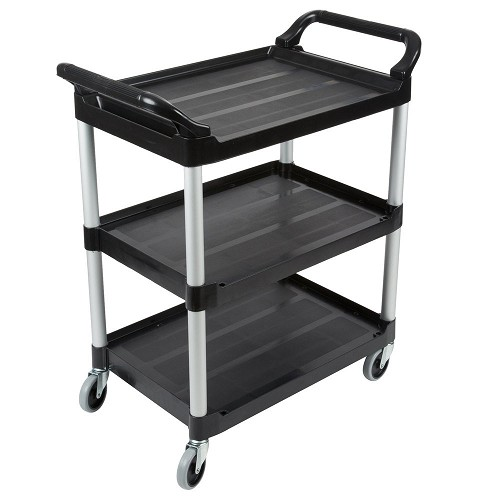 "Rubbermaid Commercial 342488BLA Utility Cart w/ 4"" Casters Black"