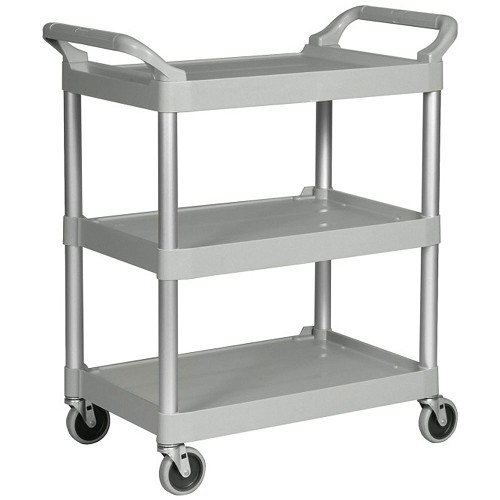 "Rubbermaid Commercial 342488PM Utility Cart w/ 4"" Casters Platinum"