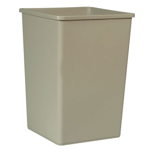 Rubbermaid Commercial 395800BG 35 Gallon Untouchable® Square Container w/out Lid Beige