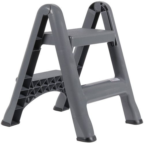 Fantastic Rubbermaid Commercial 4209 Cyl Folding Two Step Step Stool 300Lb Gray Lamtechconsult Wood Chair Design Ideas Lamtechconsultcom