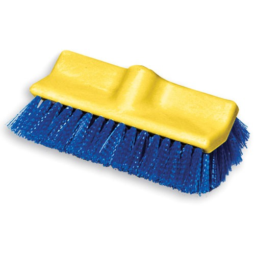 "Rubbermaid Commercial 6337BLU 10"" Floor Scrub Brush w/ Plastic Block Bi-level & Polypropylene Fill"