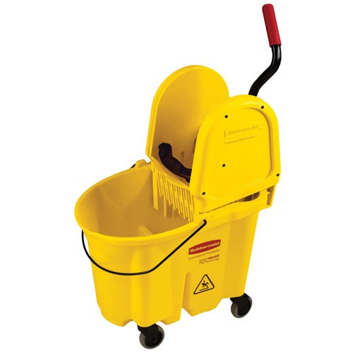 Rubbermaid Commercial FG757788YEL 35 Qt. Wavebrake® Down Press Combo Mopping System Yellow