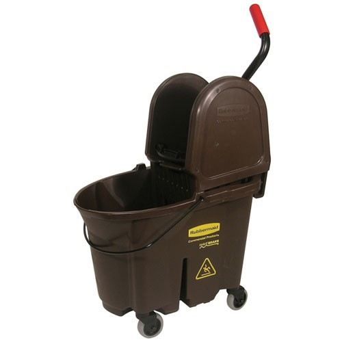 Rubbermaid Commercial 757788BN 35 Qt. Wavebrake® Down Press Combo Mopping System Brown