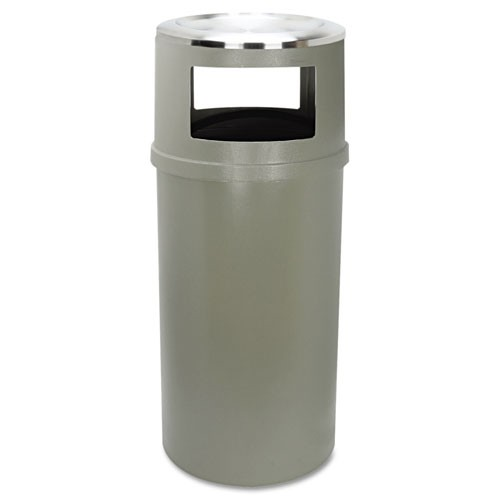 Rubbermaid Commercial 818288BEI 25 Gallon Plastic Ash/Trash Container Beige