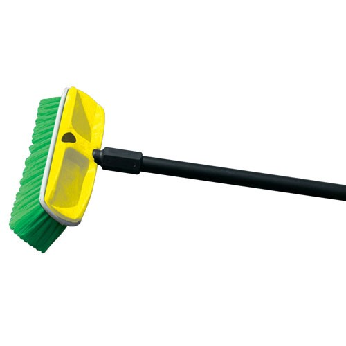 "Rubbermaid Commercial 9B72GRE 10"" Wash Brush w/ Plastic Block & Nylon Fill"