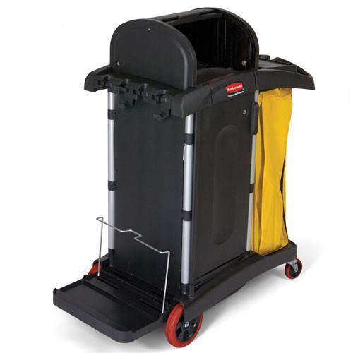 Rubbermaid Commercial 9T7500BK High Security Healthcare Cleaning Cart
