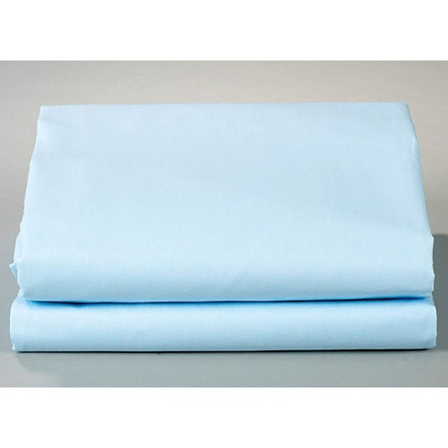Thomaston Mills T-180 Flat Sheets Twin XXL 66x115 50% Cotton 50% Polyester Blue 2 Dz Per Case Price Per Dz